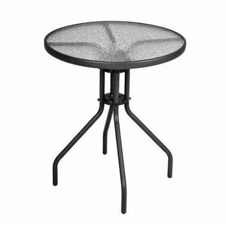 Кръгла маса със стъклен плот - Ø60 см