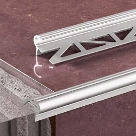 Стъпален профил AL/PSP - 100 см. - злато и сребро