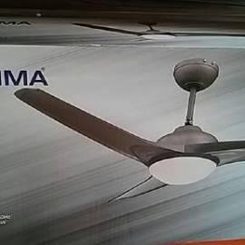 Вентилатор Уейв Куба - 3 перки, осветление, 132 см, с дистанционно управление