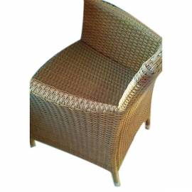 Градински стол ратан- светло кафяв
