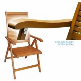 Дървен стол-варираща облегалка с 5 позиции - сгъваем