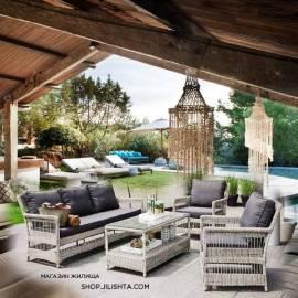 Ратанови мебели - комплект за тераса - 4 бр.