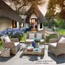 Imagén: Ратанови мебели - комплект за тераса - 4 бр.