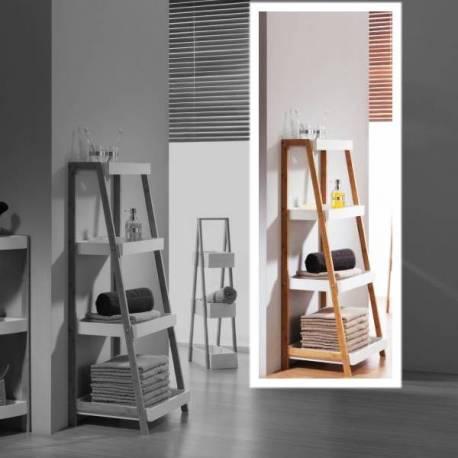 Етажерка за баня, 4 нива, бамбук, 1100x43x37 см