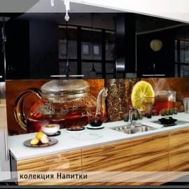 Напитки - термоустойчив гръб за кухня - гланц, 3040 х 604 х 8 мм