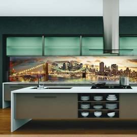Градове - термоустойчив гръб за кухня - гланц, 3040 х 604 х 8 мм