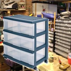 Контейнер за съхранение - 3 чекмеджета - PVC