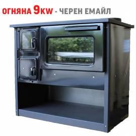 Готварска печка Огняна 9kw - черен емайл