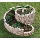 Спираловидна леха - триизмерна 150x200x80 см