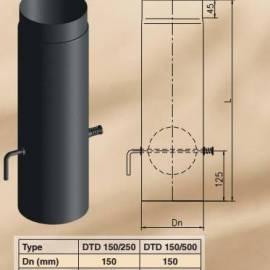 Димоoтводна тръба - права, с клапа DTD 150/250