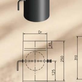 Преходник DTRD с клапа ф 150/120 Duratherm