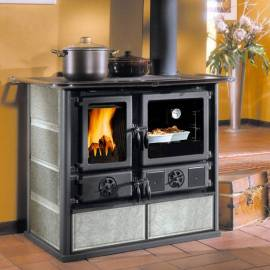 Imagén: Готварска печка Rosa Petra с каменна облицовка - 6.5 kW