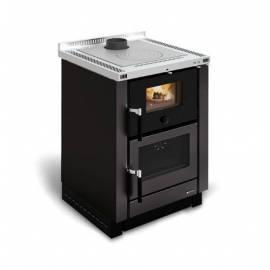 Imagén: Готварска чугунена печка на твърдо гориво Vicenza, черна, за вграждане - 7.4 kW