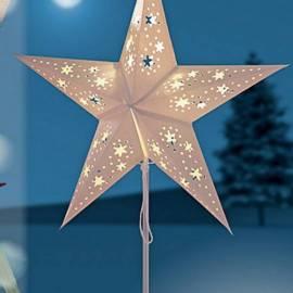 Коледна звезда 45 см led, с батерия