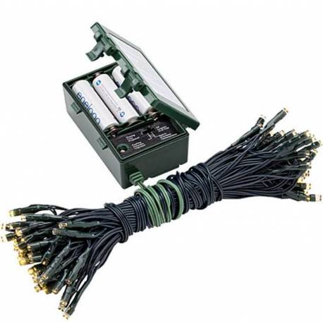 Led светлинна верига - външна, 80 лампички, на батерии