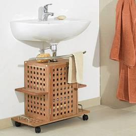 Шкаф под мивка - 40 х 60 х 60 см, орех