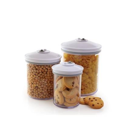 Комплект 3 бр. кръгли кутии за съхранение на продукти храна