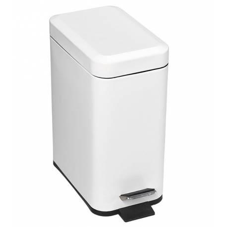 Кош за боклук с педал 5 л, бяла, метал