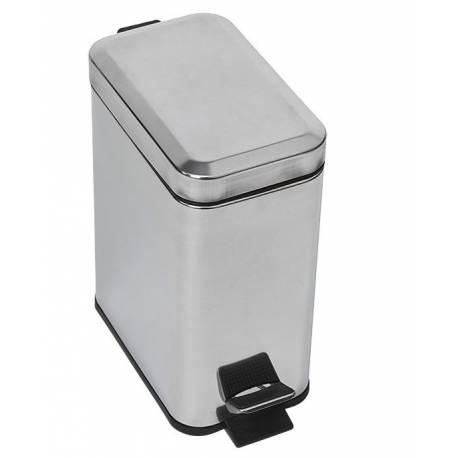 Кош за боклук с педал, 5 л, хром, метал