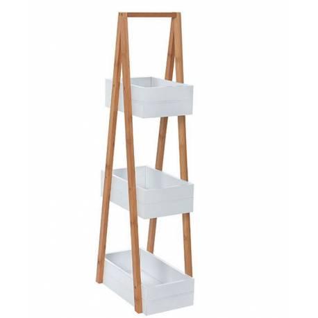 Бамбукова етажерка за баня, 83x30x18 см