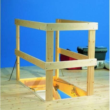 Парапет за сгъваема таванска стълба, 120х70х97 см