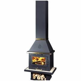 Камина на дърва Уют LUX inox -14 kW, суха