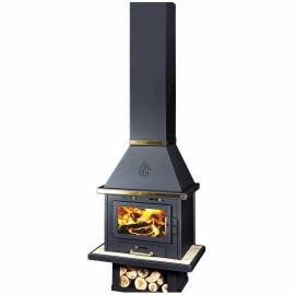Камина на дърва Уют LUX inox, 14 kW, суха