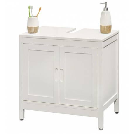 Шкаф под мивка - 60 х 59,5 х 40 см, дърво бял