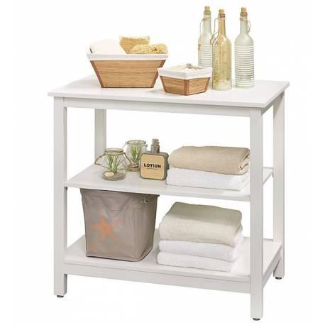 Шкаф за аксесоари -  80 х 75 х 49,5 см, дърво бял