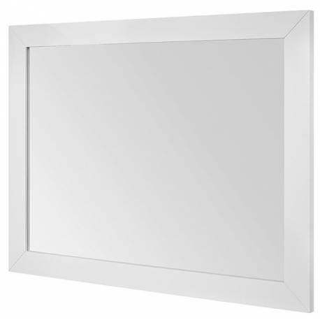 Огледало за баня 90 x 70 см, естествено дърво, бял лак