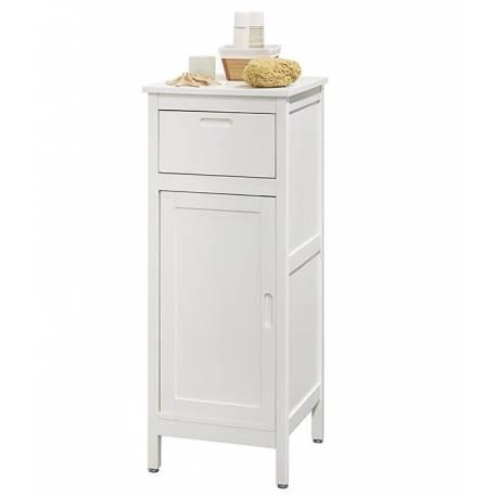 Шкаф за аксесоари за баня - 40 х 40 х 40 см, дърво бял