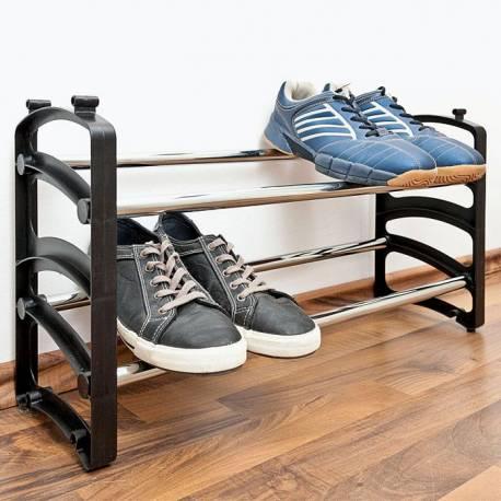 Рафт за обувки, 62 -105x18x33 см