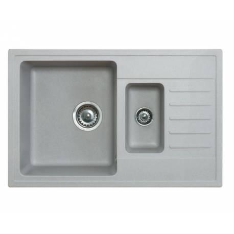 Кухненска мивка xQUADRO PLUS, 1.5, сива