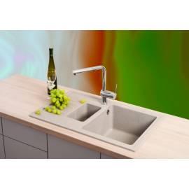 Кухненска мивка xQUADRO PLUS, 1.5 D, бежова