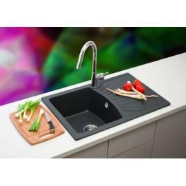 Кухненска мивка xQUADRO PLUS, черна