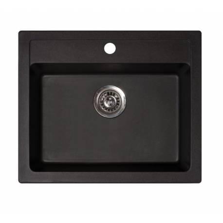 Кухненска мивка xQuadro 60, черна