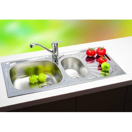 Кухненска мивка LUNA 1.5D гланц