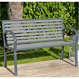 Градинска пейка - метална, 118x60x80 см