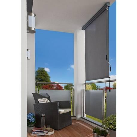 Тента за балкон 140x250 см, с манивела, сива