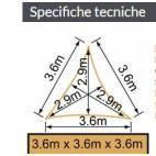 Сенник 360x360x360 см, цвят сив, триъгълник