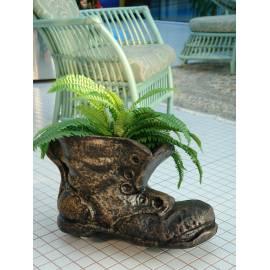 Декоративна саксия - Голяма обувка 55х30х34