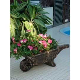 Декоративна саксия - Количка за цветя, 74х38х31