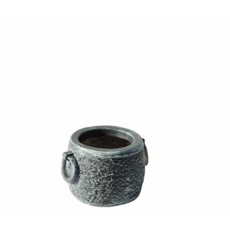 Саксия Kamnito S, Ø37 (32) ×24, имитация на камък и бетон