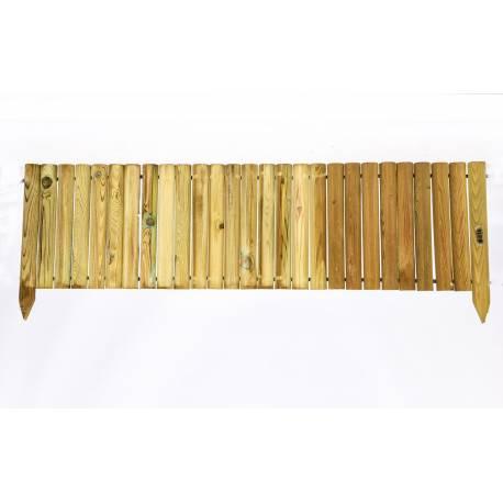 Дървени ролки за лехи с крачета -  2 x 30 x 150 см