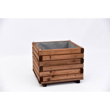Дървена саксия 40 x40 x 33.3 CM