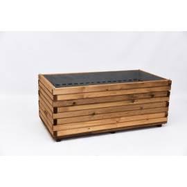 Дървена саксия 50 x100 x 42,8 см