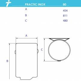 TEDAN PRACTIC INOX 80l - легирана неръждаема стомана