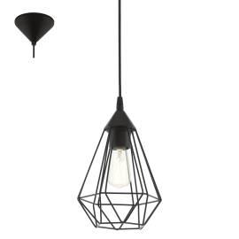 Пендел-висяща лампа 1хE27 Ø175 черно-мат TARBES