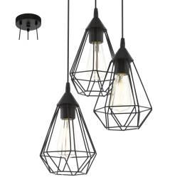 Пендел-висяща лампа 3хE27 черно-мат TARBES