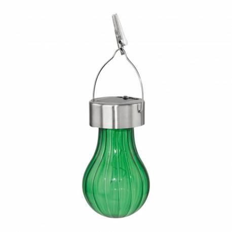 Соларна лампа - висяща, Ø 7 см x 19 см, зелена